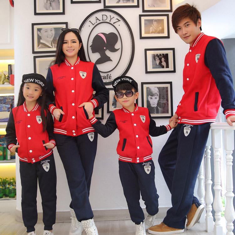 童装秋冬新款男女童运动套装小学生校服儿童小童幼儿园班服棒球服