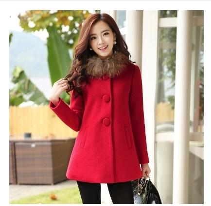 2014秋冬装新款韩版修身斗篷毛呢外套女中长款羊绒呢子大衣
