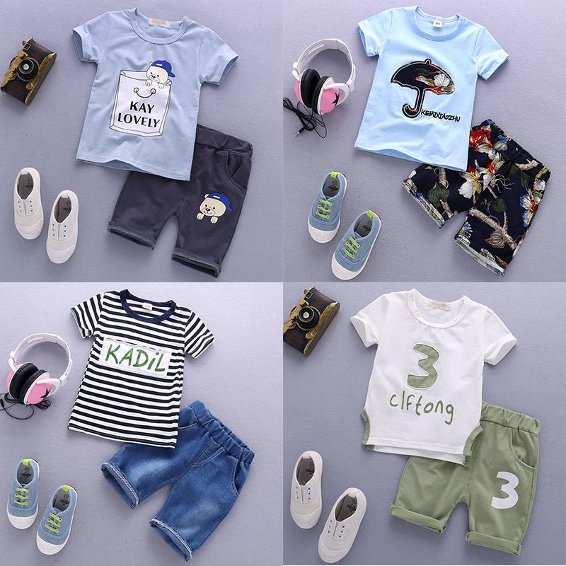 寶寶男童短袖套裝衣服夏裝夏季兒童