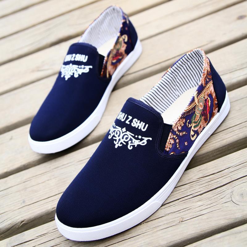 鞋子男夏季青春潮流休闲鞋男鞋透气帆布鞋英伦运动男鞋板鞋潮鞋子