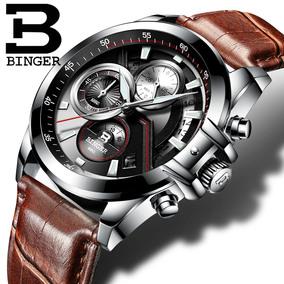 正品宾格手表男全自动男表钢带石英表军表防水腕表时尚运动皮带表