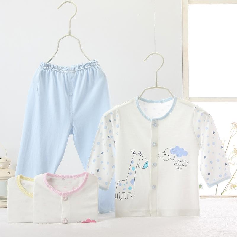 兒童套裝夏季長褲超薄空調竹纖維長袖嬰兒寶寶睡衣內衣