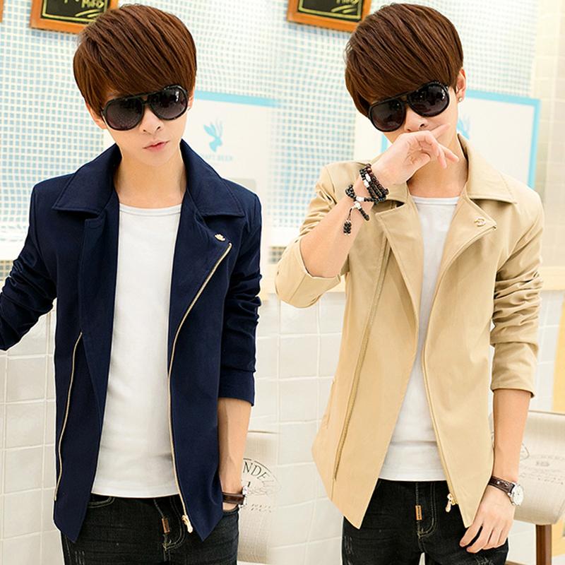 青少年韩版夹克男春季潮流衣服男装学是外衣男士长袖秋装男生外套