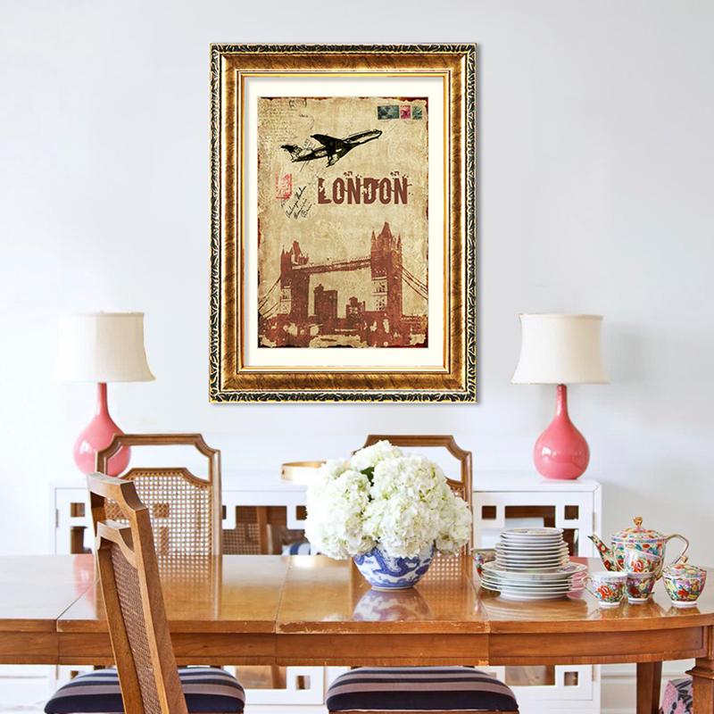 装饰画客厅有框画玄关挂画餐厅壁画背景墙画欧式油画