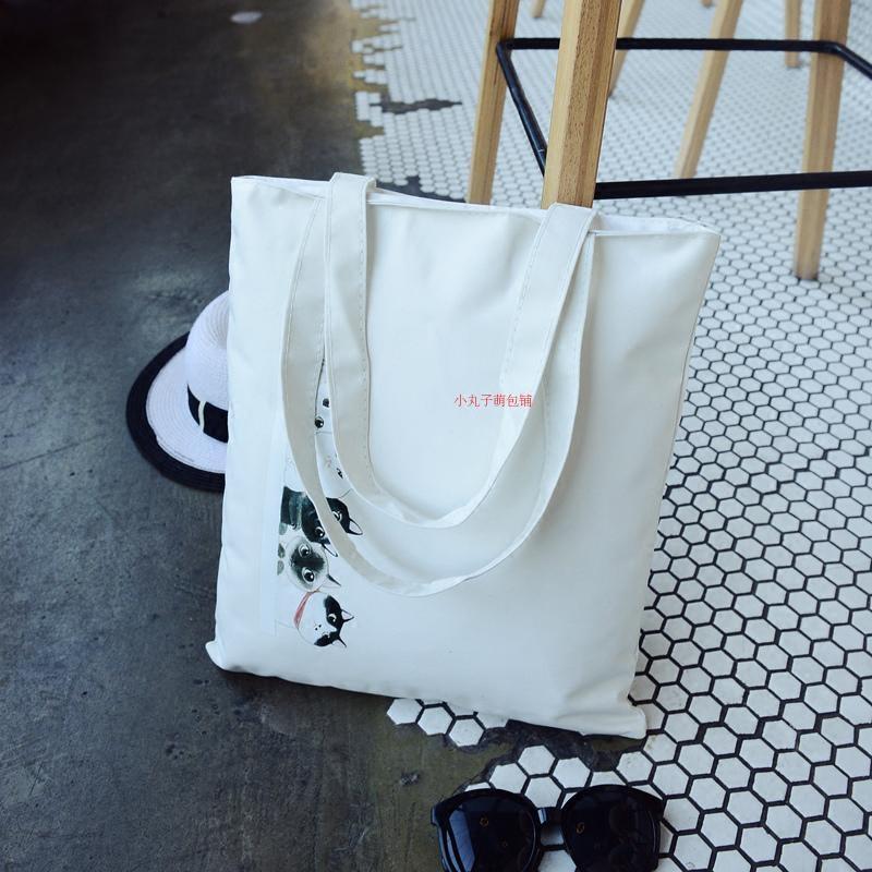 帆布包女包单肩日韩国文艺森系学生书包环保购物袋简约百搭小清新