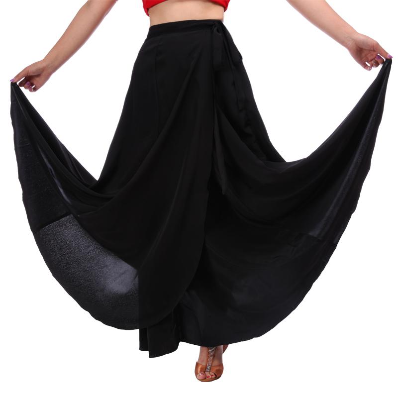 红舞鞋 黑色舞蹈裙 高斯宝朝鲜半身裙 民族舞蹈服装女练功裙 6207