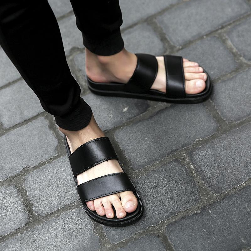 一字拖街头LES情侣弯弯学生拖鞋防滑夏季个性男韩版凉拖