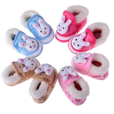 婴儿棉鞋宝宝软底棉鞋秋冬季保暖鞋高帮加厚高筒大棉靴-0-1岁冬