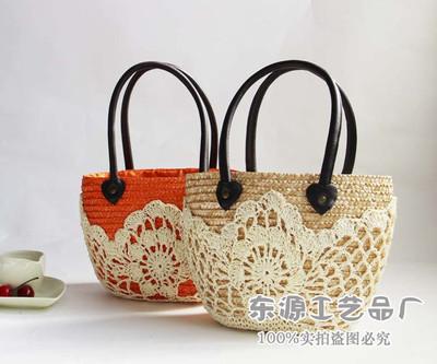 手工钩织花朵包/手工钩织花朵包价格