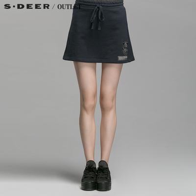 [特价] s.deer圣迪奥专柜正品女装学院派休闲运动短裙