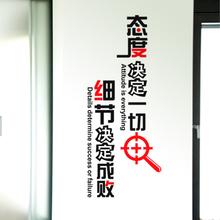 竖版-态度决定一切  励志墙贴纸 学校教室文化墙 企业办公室贴画