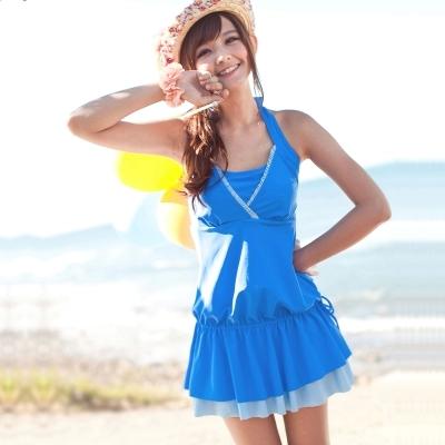 大胸新款韩版连体裙式加肥加大D罩杯5XL胖MM180斤遮肚显瘦女泳衣