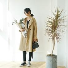 【迷宫设计师】经典卡其色风衣外套宽松大廓形长风衣17年早秋新款