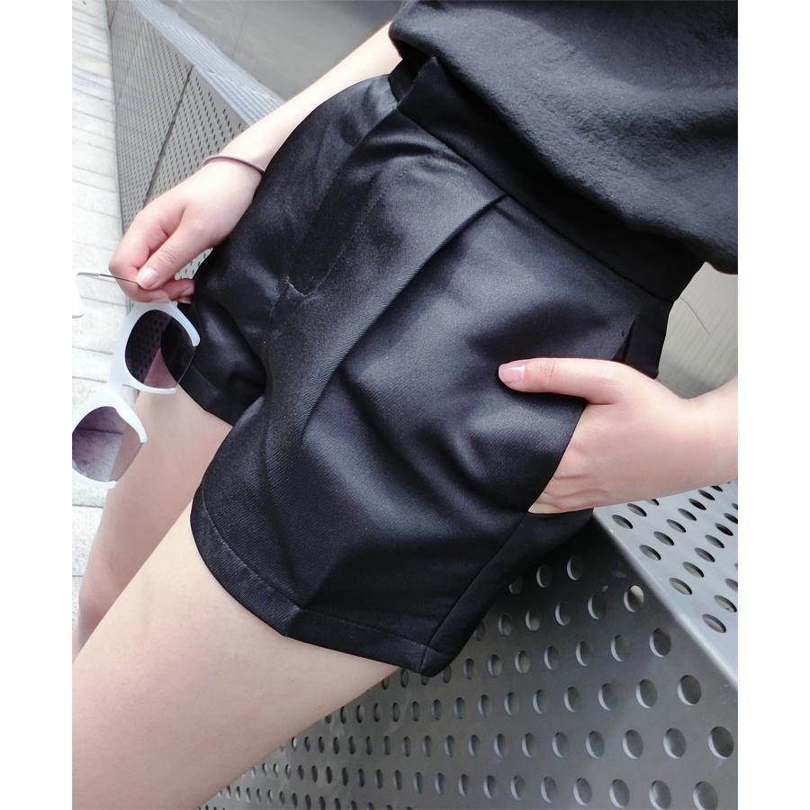 2014初秋韩版女装新款 高腰显瘦黑色短裤 侧边口袋 挺括西装面料