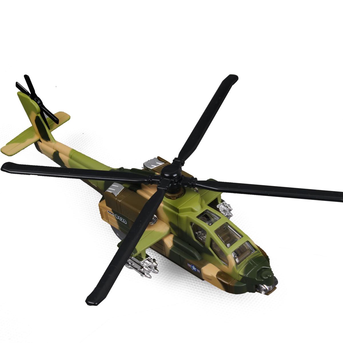 蒂雅多 阿帕奇直升机 螺旋浆 全天侯武装攻击机 合金飞机 声光版