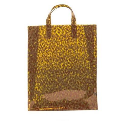 韩国代购夏装-直邮★2015时尚气质琥珀色豹纹购物袋果冻手提包包