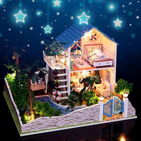 弘达diy小屋 大型手工制作房子拼装模型别墅 创意生日礼物男女生