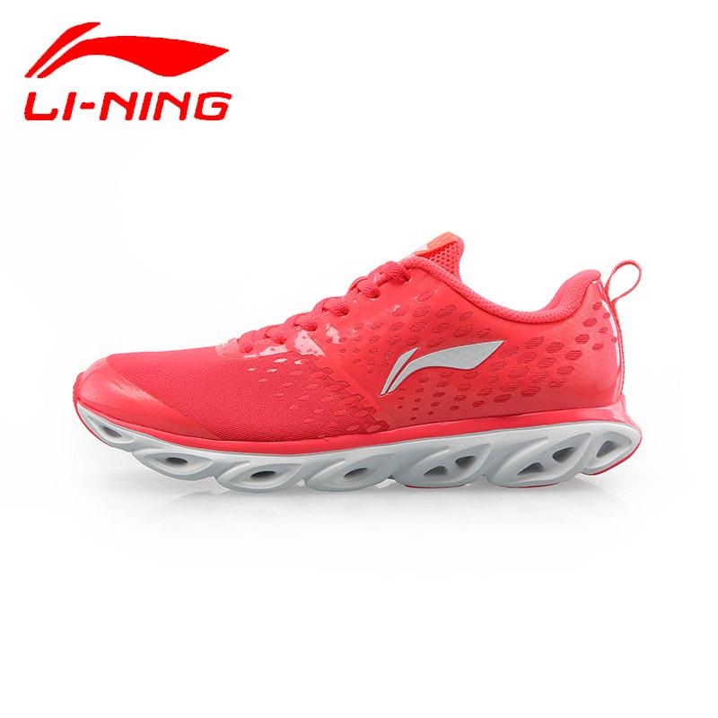 李宁女鞋李宁弧5代女跑步鞋网面透气减震跑鞋运动鞋ARH