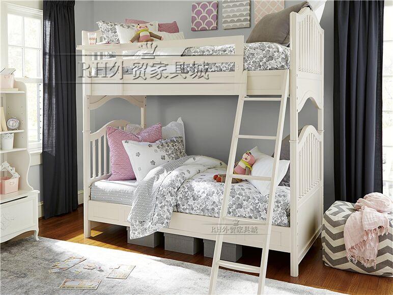 欧式简约实木双层上下母子床双人儿童床家具定制