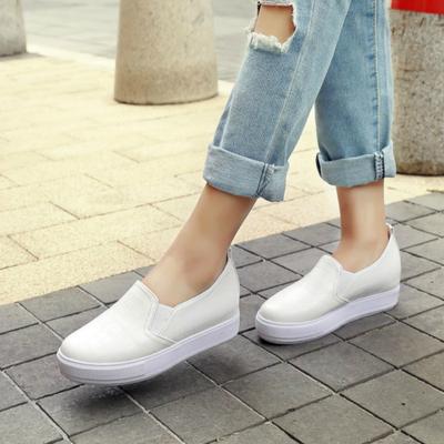春夏浅口乐福鞋韩版单鞋女平底鞋平跟学生鞋休闲鞋大码女鞋子女士