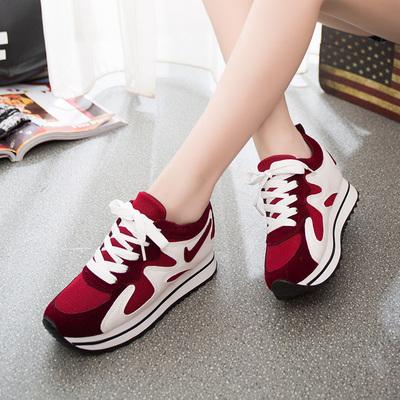 [新品上市] 2015韩版新夏大码运动风平跟女单鞋气垫时尚网鞋低跟学生透气休闲