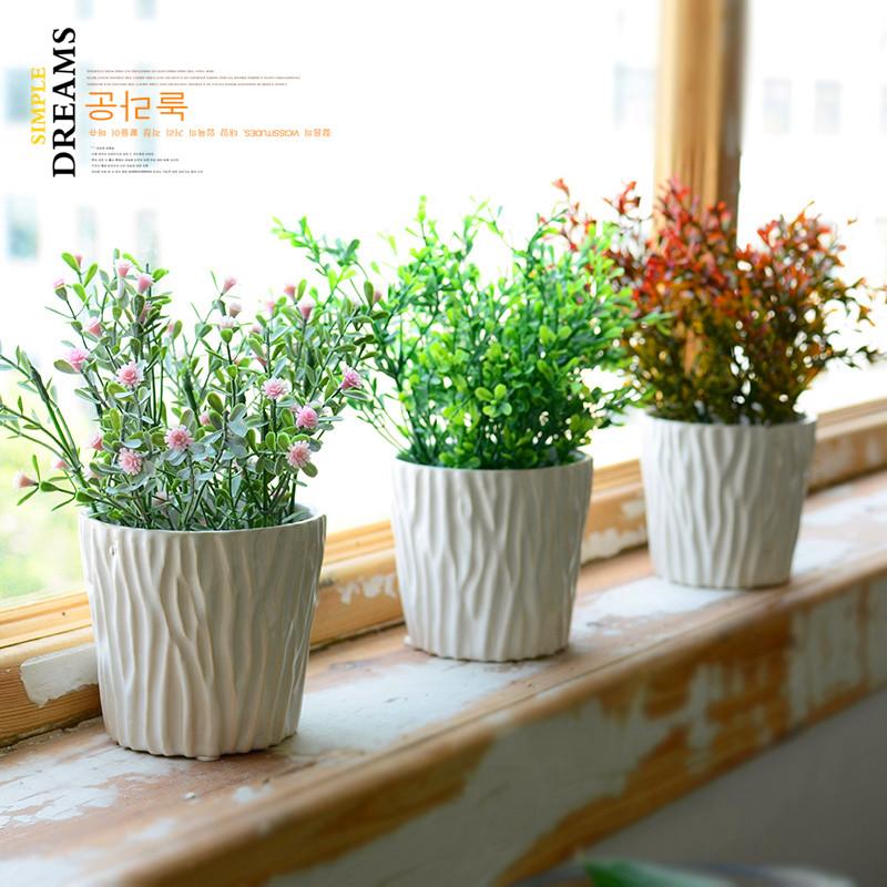 花盆套装仿真植物盆栽盆景家居客厅仿真花摆件绿植
