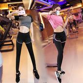 2017春夏季新款显瘦瑜伽服三件套装女健身房跑步运动速干衣背心