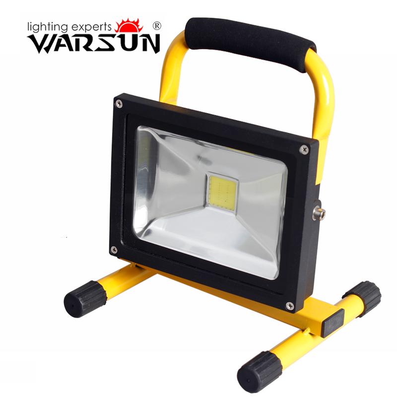 沃尔森 应急移动工作灯充电式LED投射灯工程手提探照灯强光手电筒