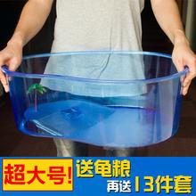 乌龟缸带晒台养龟专用缸大号金鱼缸塑料巴西龟乌龟别墅小乌龟盒子
