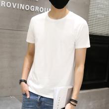 韩版 半袖 上衣夏装 短袖 潮圆领纯色体恤打底衫 T恤男装 纯棉夏季男士