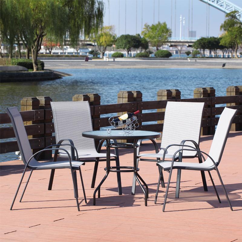 虎鹿户外桌椅藤椅五件套阳台庭院咖啡酒吧室外休闲桌椅家具伞组合