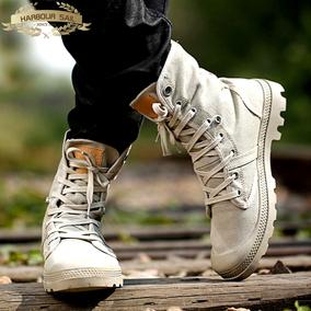 高帮鞋男帆布鞋情侣春季新款马丁靴子男靴高邦工装鞋男女鞋休闲鞋