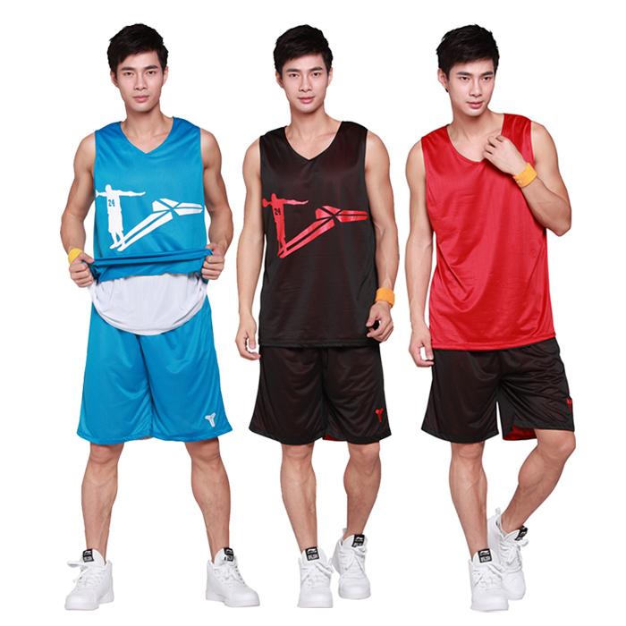 篮球服套装 双面篮球衣 队服 篮球训练服 网眼球服可定制印号