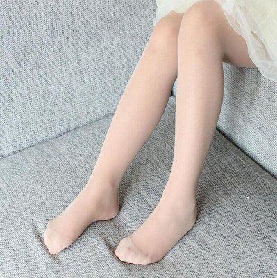 夏季小女孩纯色女童肉色包芯丝丝袜5打底裤袜4宝宝丝袜3岁舞蹈袜