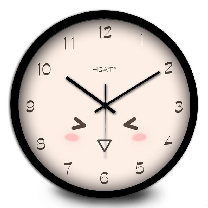 可爱卡通儿童房超静音挂钟客厅卧室家居装饰石英钟表