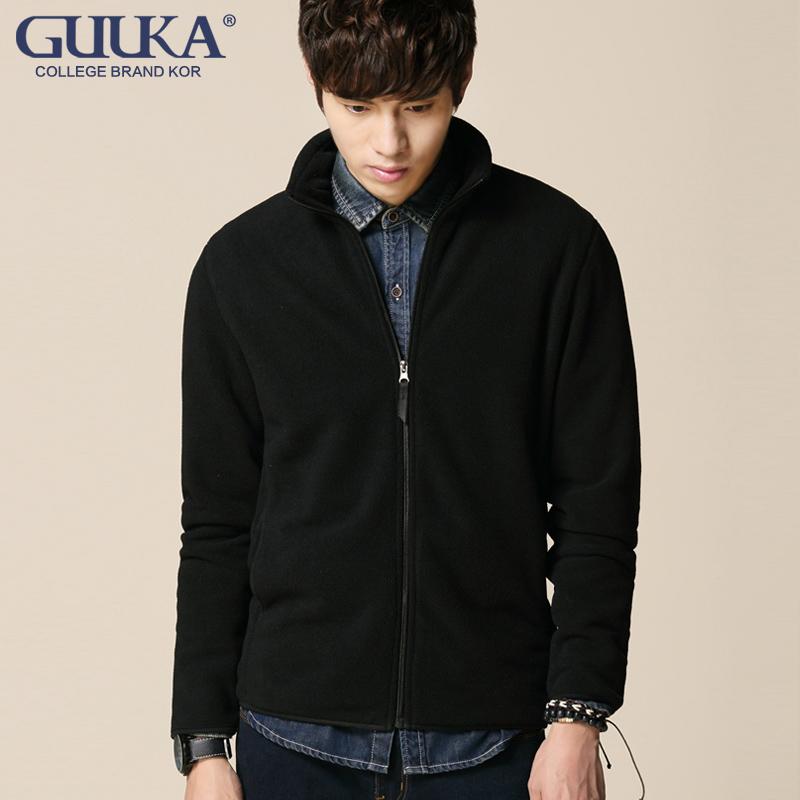 青年外套男春秋韩版学生装男式立领卫衣外套运动开衫黑色潮流男装