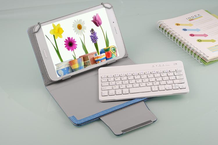 7寸8寸9.7寸10寸通用蓝牙键盘皮套三星苹果微软联想小米平板电脑