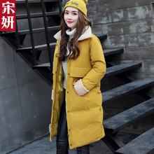 2016冬装新款棉衣女中长款韩版羊羔毛外套加厚棉袄韩国学生面包服
