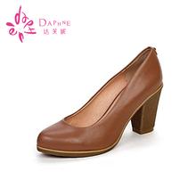 真皮时尚 1013404042 高跟女士春浅口女单鞋 达芙妮专柜正品 Daphne