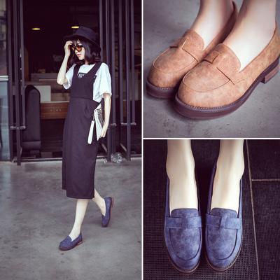 [新年价] 复古牛津鞋学院英伦风女鞋夏女士小皮鞋单鞋磨砂平跟秋鞋平底女