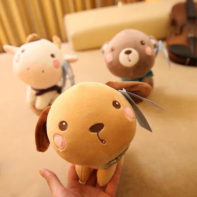 可爱卡通大头小动物狗狗小熊毛绒玩具玩偶公仔儿童布娃娃生日礼物