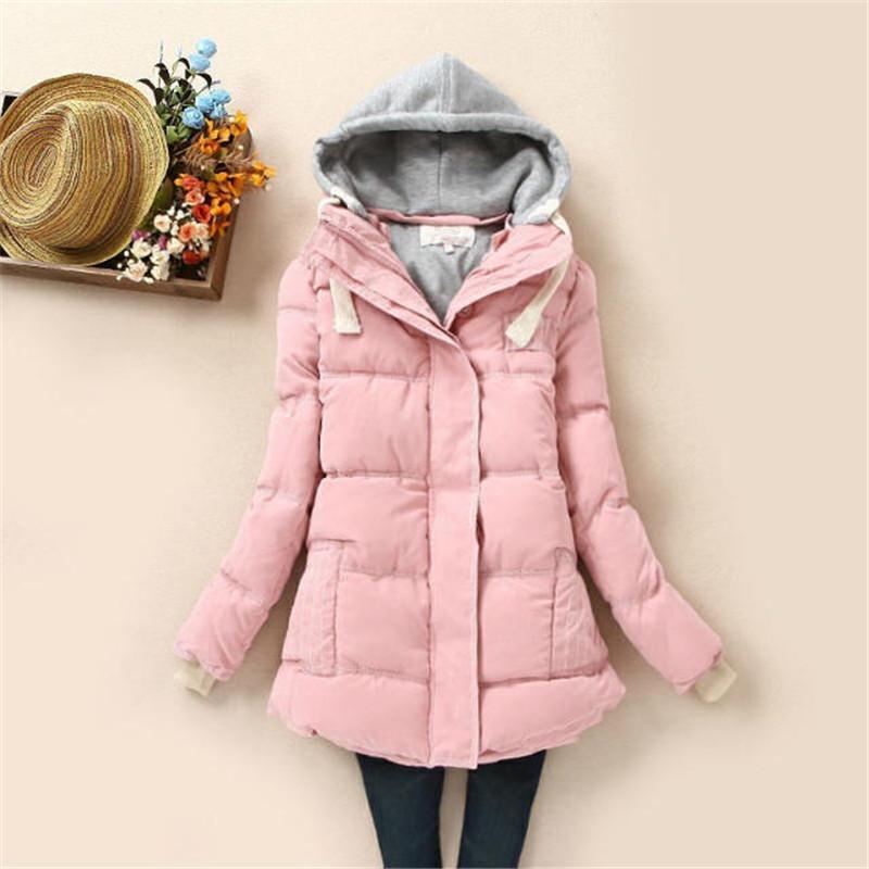2014冬装新款韩版修身显瘦加厚羽绒棉外套保暖棉衣女初高中学生装