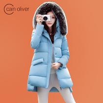 2016新款棉衣女冬季韩版直筒百搭中长款棉服大毛领加厚棉袄外套潮