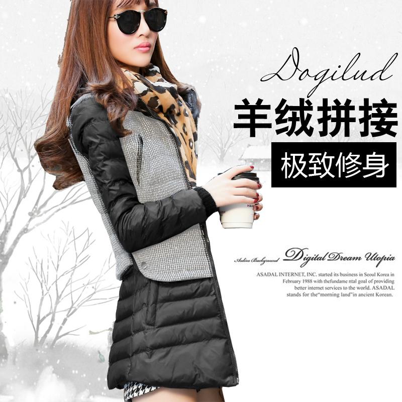 2014冬装新款棉衣女中长款外套韩版修身加厚女式棉服女大码棉袄潮