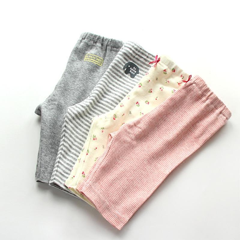 寶寶兒童嬰兒女童底褲短褲褲薄款純棉秋褲家居睡褲