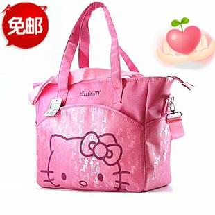 包邮Hellokitty卡通可爱妈咪包单肩斜跨包待产母婴包手提包旅行包