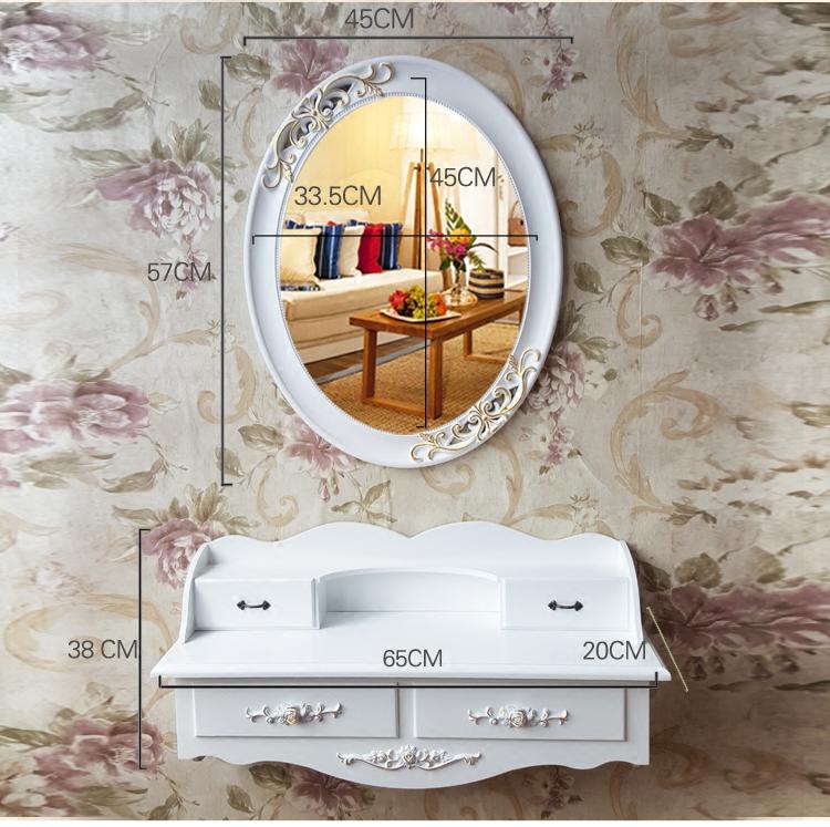 迷你卧室韩欧式小户型现代简约白色田园化妆台梳妆桌