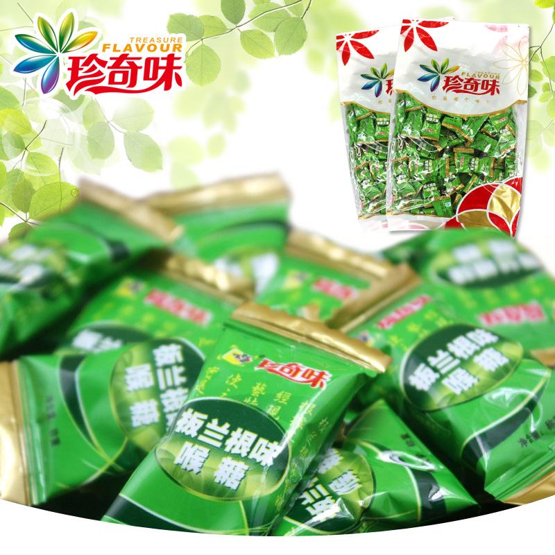 【珍奇味】板兰根味润喉糖 薄荷清爽润喉糖 办公室常备润喉爽500g