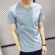 情以纯夏季2017男士短袖T恤韩版修身半袖日系个性体恤学生打底衫