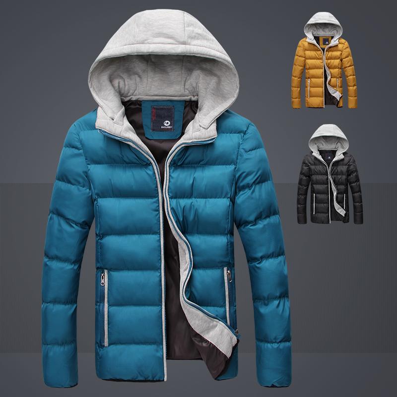 2014冬季男装新款男士休闲外套棉衣男式韩版连帽加厚保暖棉服M56